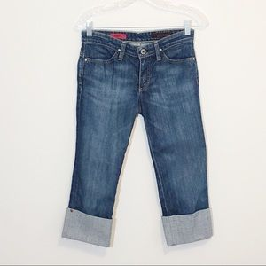 AG Adriano Goldschmied the Shorty Cuff Crop Jeans
